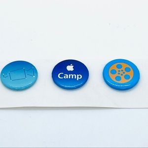 3 Apple Camp Pins Kids Apple Retail New